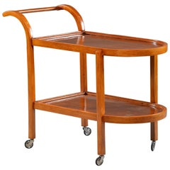 Bentwood Two-Tier Trolley or Tea Cart