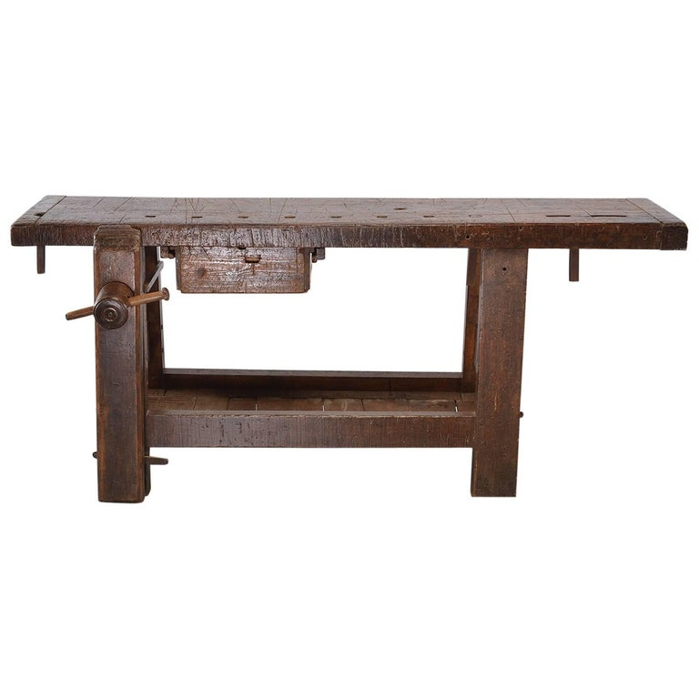 19th Century French Work Bench Table