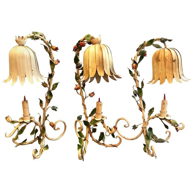 Midcentury Italian Toleware Table Lamps