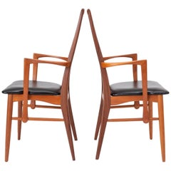 Pair of Eva Captain Chairs by Niels Koefoed for Koefoeds Mobelfabrik