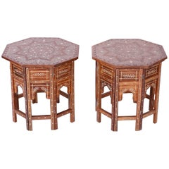 Pair of Inlaid Syrian Side Tables