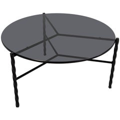 Customizable Von Iron Coffee Table from Souda, Medium, Black and Glass
