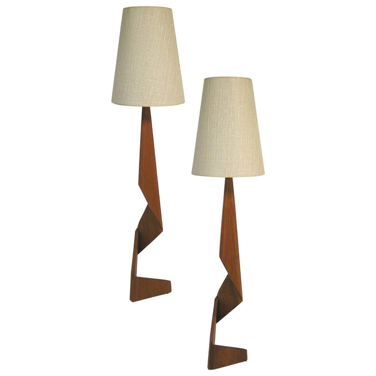 Danish Teak Floor Lamp At 1stdibs