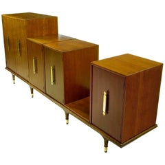 Modular Six-Piece Credenza by Edward Wormley for Dunbar
