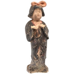Large Chinese Pottery Court Lady, Tang Style