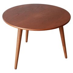 Hans J. Wegner Danish Modern Three-Legged Teak Coffee Table