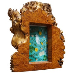 Antique & Organic Solid Burl Walnut or Burl Amboyna Wall Picture / Photo Frame