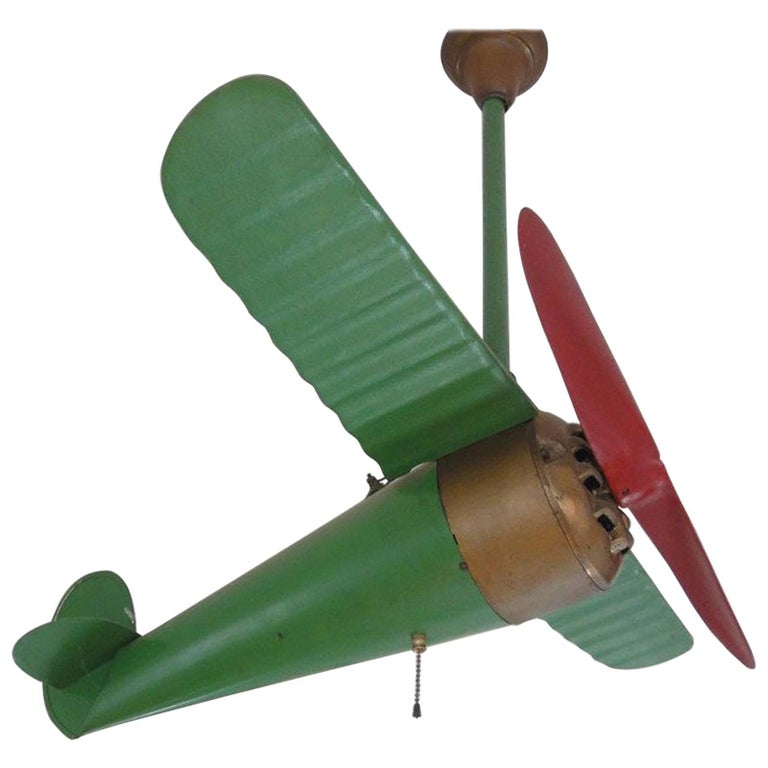 """Rare """"Lindy"""" Airplane Ceiling Fan"""