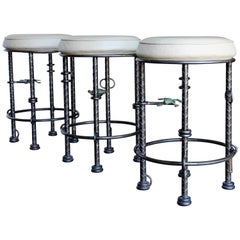 Set for Three Signed Stools by Ilana Goor