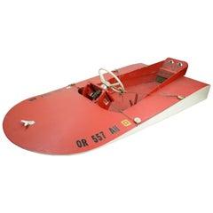 1960s Hand Built Muskoak Sea Flea Minimost Hydroplane Boat by William Jackson
