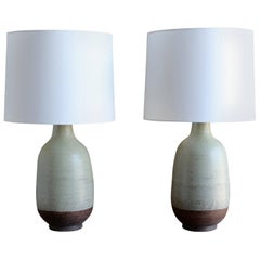 Aldo Londi for Bitossi Pair of Ceramic Lamps