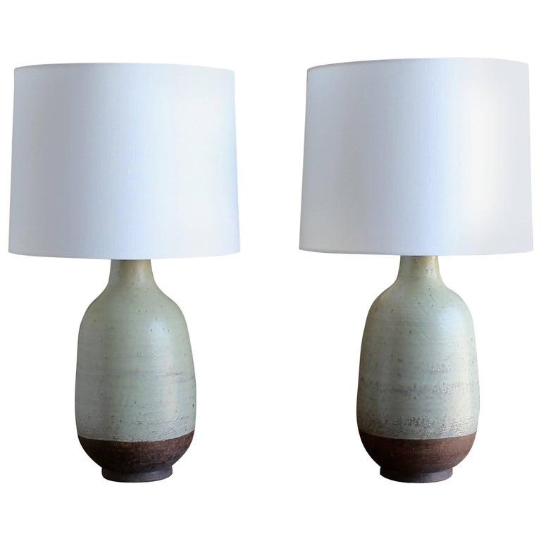 Aldo Londi for Bitossi Pair of Ceramic Lamps