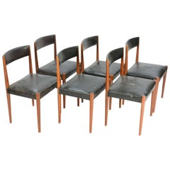 Set of Six Aage Schmidt Christensen for Fritz Hansen Dining Chairs
