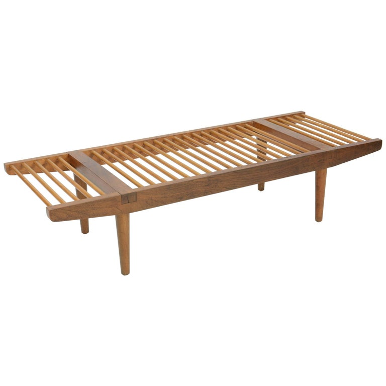 Milo Baughman Dowel Bench and Coffee Table for Glenn of California, 1950 For Sale