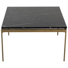 Brass and Marble Coffee Table by Nicos Zographos