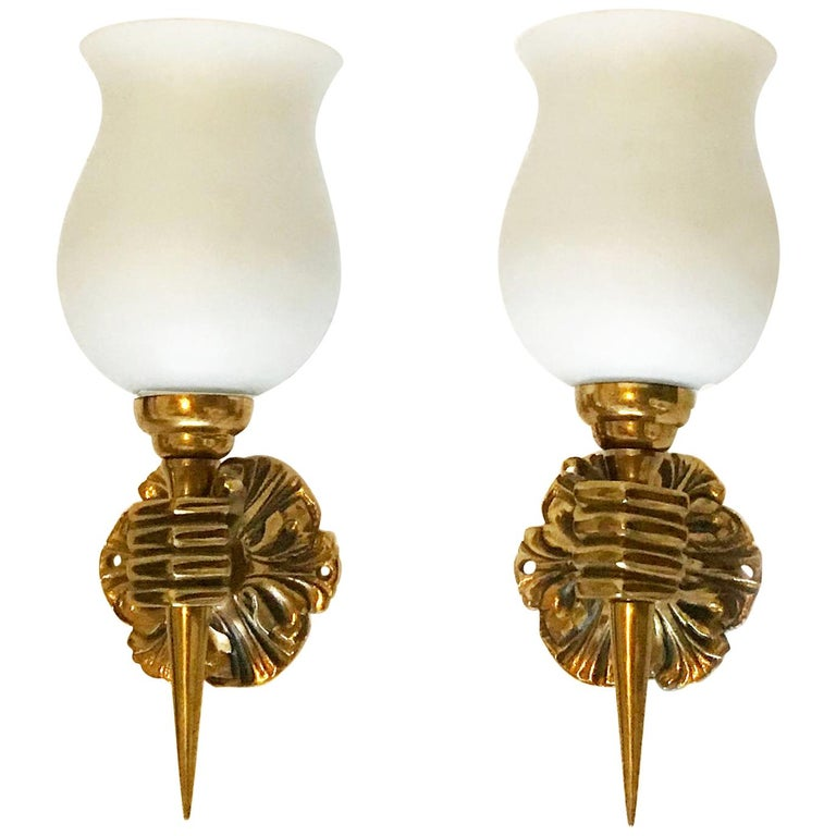 Andre Arbus Bronze Sconces.2 pairs available. Priced by pair