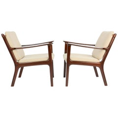 Pair of Ole Wanscher's Club Chair JP112 for P. Jeppesens Møbelfabrik of Denmark