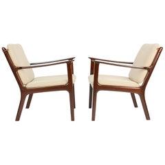 Pair of Ole Wanscher's Club Chair JP112 for P. Jeppesens Møbelfabrik of Denmark