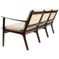 Ole Wanscher's Sofa JP112 for P. Jeppesens Møbelfabrik of Denmark in Mahogany