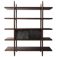 Deepstep Shelving, Maple and Ebony Modular Storage with Fine Wood Detailing
