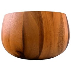 Jens Quistgaard for Digsmed Large Bowl of Staved Teak