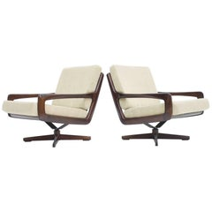 Pair of Swivel Lounge Chairs by Eugen Schmidt, Germany, 1960s