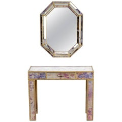 1960s Dressing Table with Mirror in Regency Style
