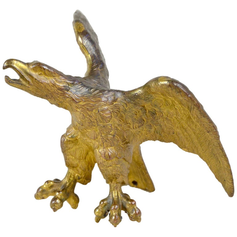 1870s French Gilded Bronze Eagle Statue