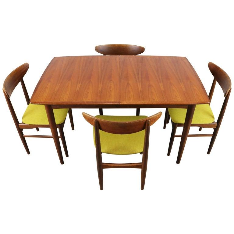 Wonderful Danish Design Dining Room Set Designed by Dyrlund in Teak 1950s