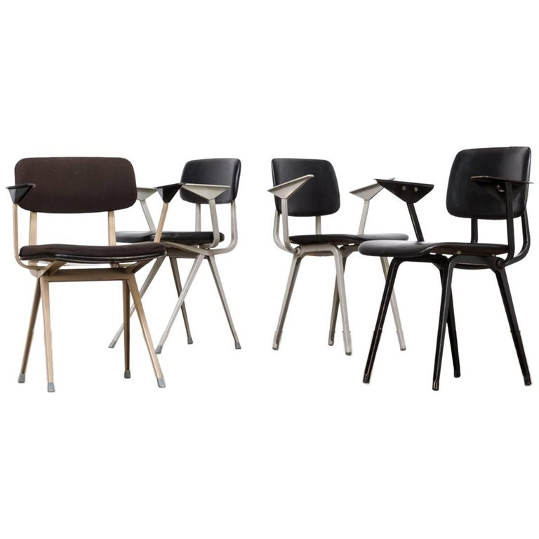 Lot of Four Individual Friso Kramer Office Chair for Ahrend de Cirkel