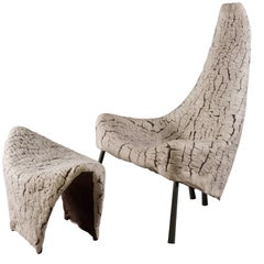 'Stella and Maris' Chair and Stool Handcrafted by Ayala Serfaty