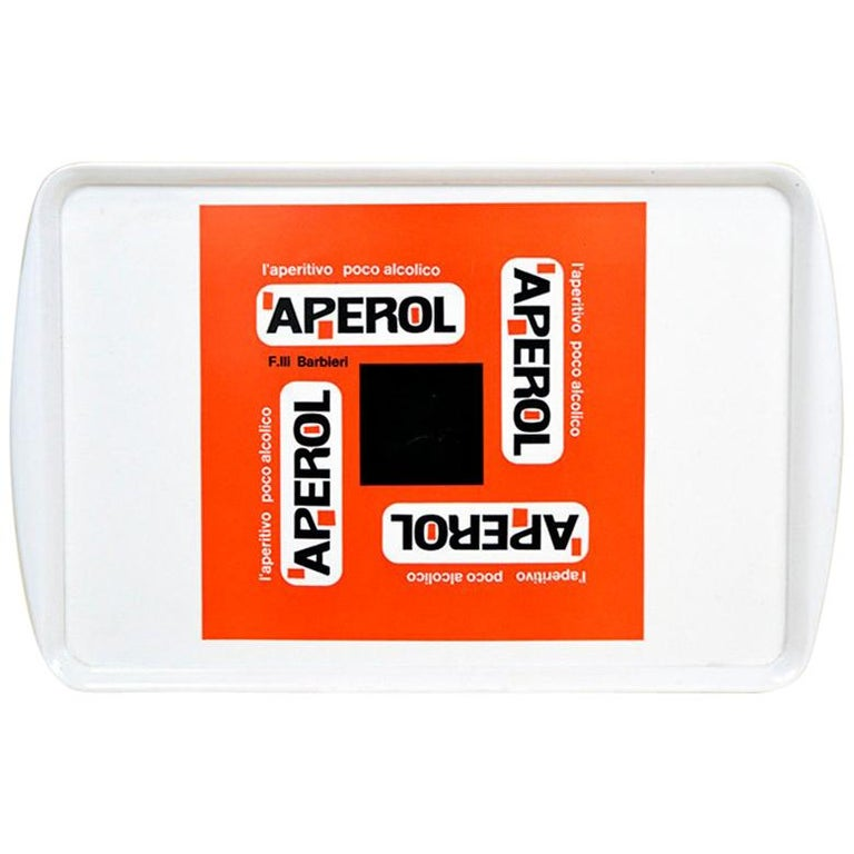 1970s Vintage Plastic Italian Aperol Bar Tray For Sale
