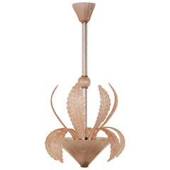 Charming Chandelier by Barovier & Toso, Murano, 1940s