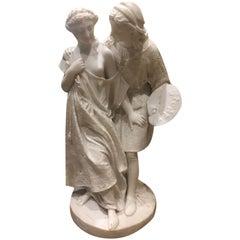 Romeo & Juliet Marble Sculpture by Raffaello Romanelli