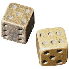 Pair of Game Dice, Ancient Roman to Byzantine Period, 2nd-8th Century AD, Bronze