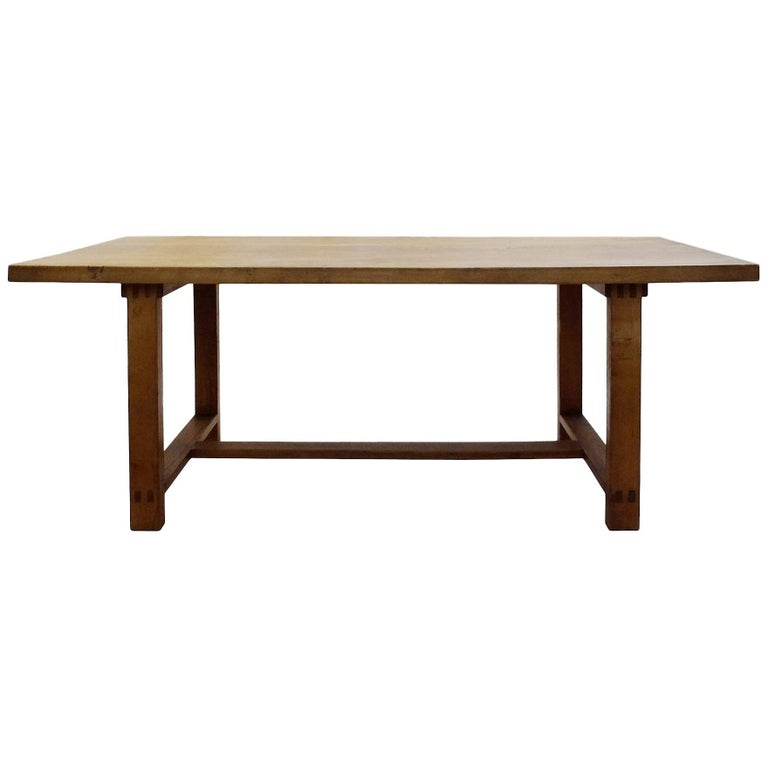 """1960s Pierre Chapo """"T01"""" Dining Table, France"""
