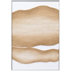 Contemporary Handwoven Art, Tan Live Edge Forms by Mimi Jung