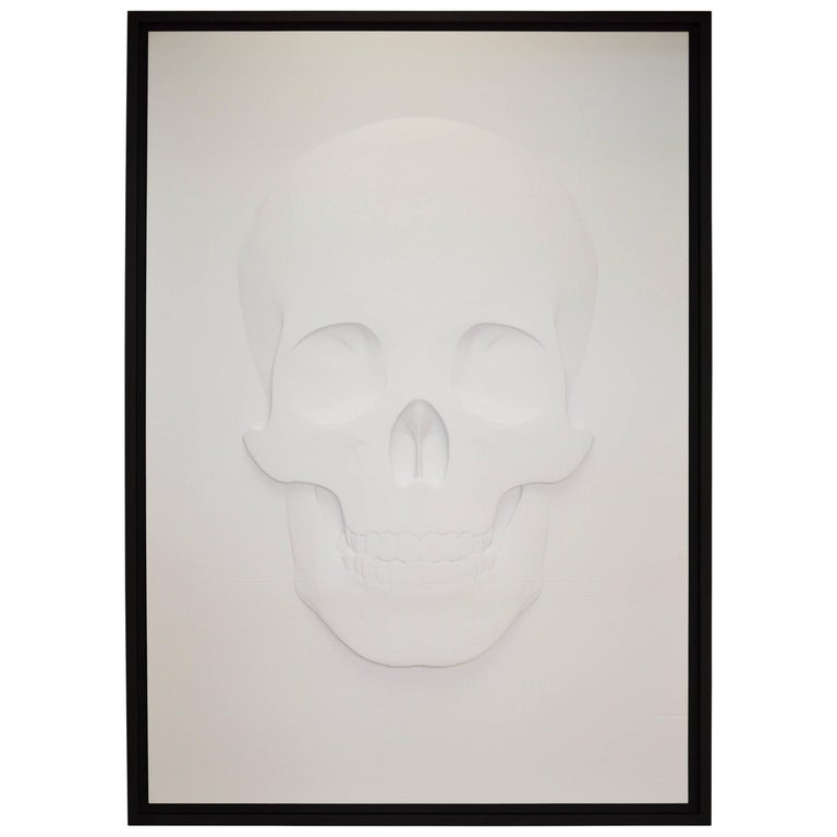 """3D Skull Portrait """"How They See Us"""" by Samuel Greg, 2018"""