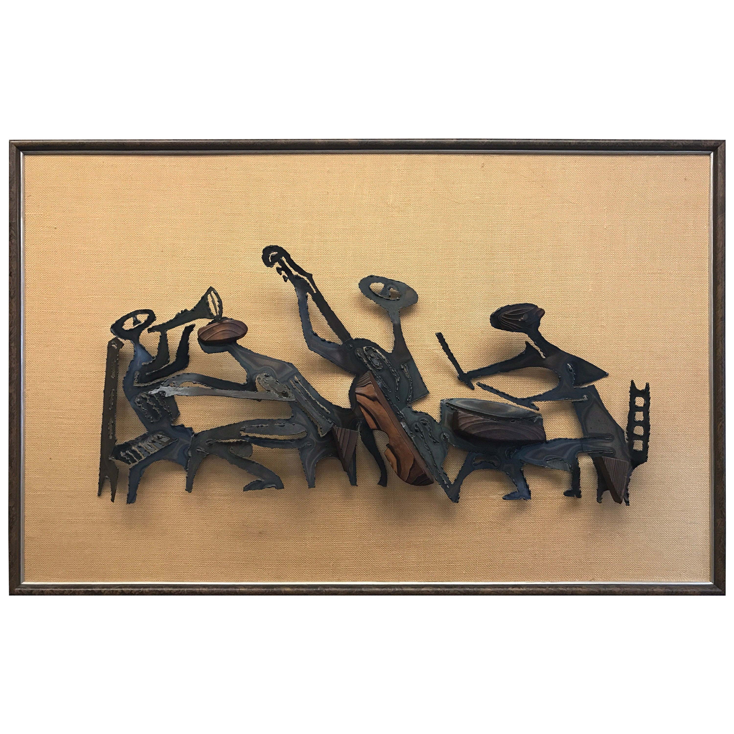 Marc Creates Metal Brutalist Wall Sculpture, 1970s For Sale at 1stdibs