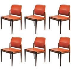 1960s Set of Six Rosewood Dining Chairs from Skanderborg City Hall
