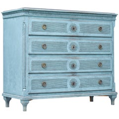 Large Painted 19th Century Swedish Chest of Drawers