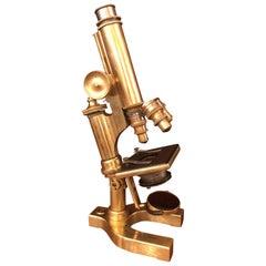 Antique Late 19th Century American Bausch & Lomb Microscope, circa 1890
