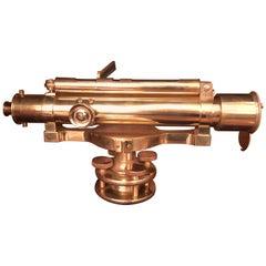 Antique 19th Century English Brass Surveyor's Level, circa 1890-1900