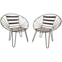 Pair of Metal Hoop Chairs