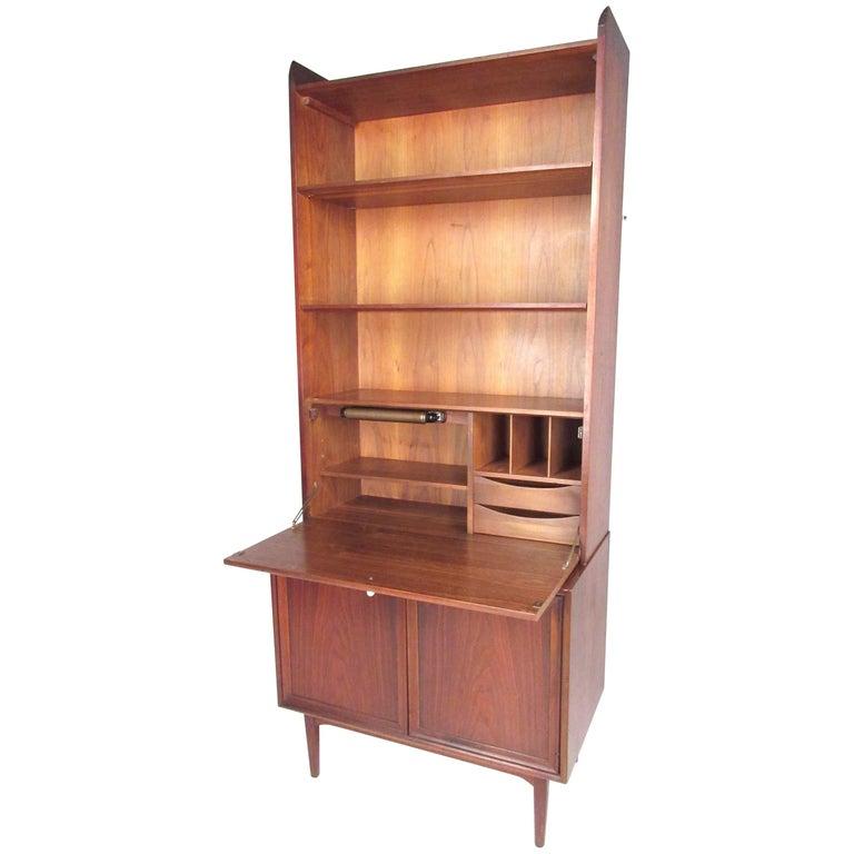 "Kipp Stewart Drop Front Bookcase for Drexel ""Declaration"""