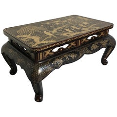 Qing Dynasty Chinese Lacquer and Mother-of-Pearl Small Table, 18th-19th Century