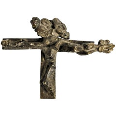 Ernest Neizvestny, Cross, Patinated Bronze Sculpture, 1980s