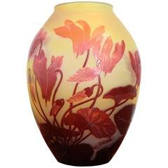 Emile Gallé French Art Nouveau Vase