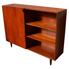 Kai Kristiansen for Feldballes Teak Bookcase / Credenza with Rosewood Handle
