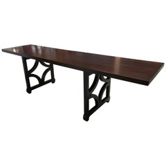 Sculptural Solid Mahogany Console Table by Doug Edge